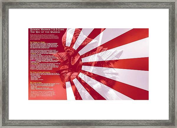 Bushido Warrior 7-5-3 Code The Way Of The Warrior 4a Framed Print