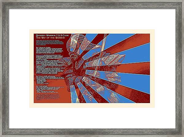 Bushido Warrior 7-5-3 Code The Way Of The Warrior 4d Framed Print