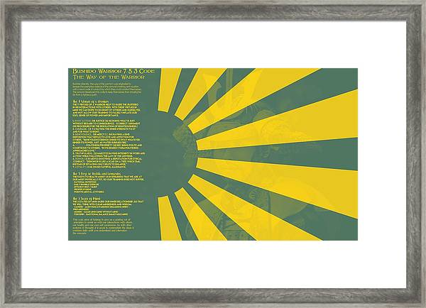 Bushido Warrior 7-5-3 Code The Way Of The Warrior 9b Framed Print