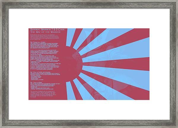 Bushido Warrior 7-5-3 Code The Way Of The Warrior 9f Framed Print