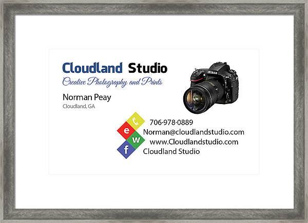 Business Card Framed Print