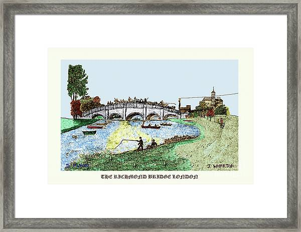 Busy Richmond Bridge Framed Print