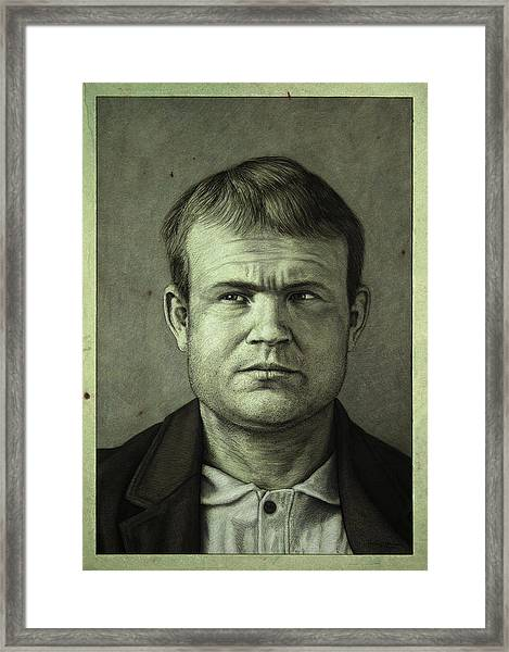 Framed Print featuring the painting Butch Cassidy by James W Johnson