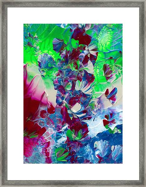Butterflies, Fairies And Flowers Framed Print