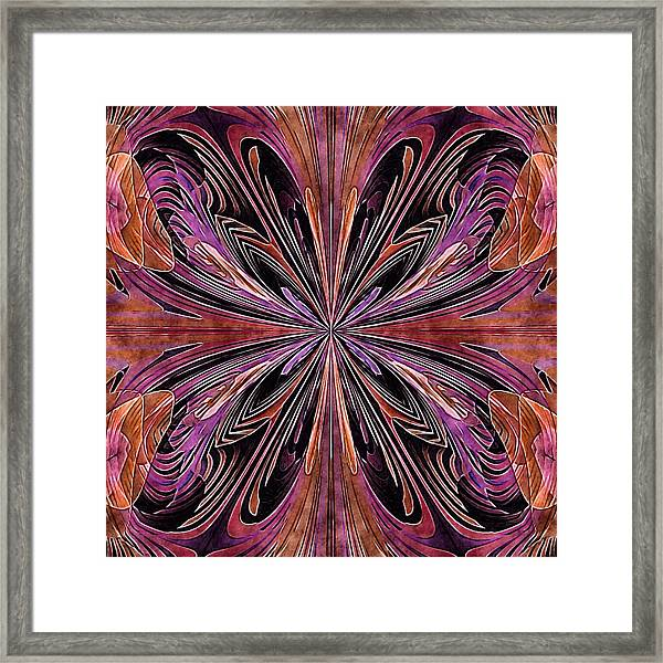 Butterfly Art Nouveau Framed Print