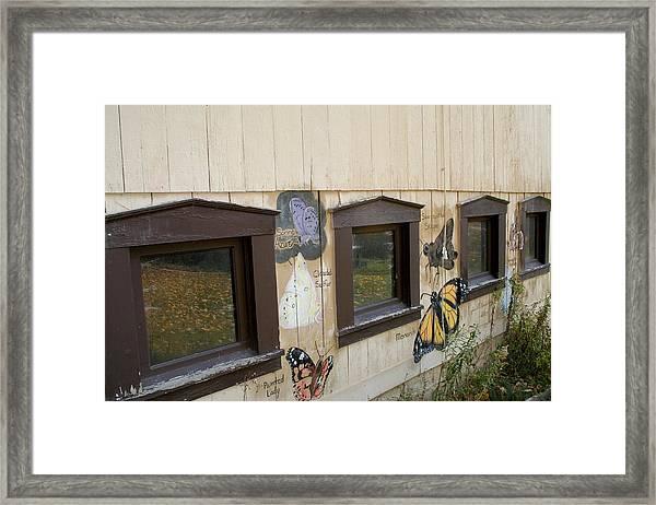Butterfly Barn Framed Print