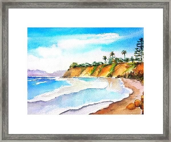 Butterfly Beach Santa Barbara Framed Print