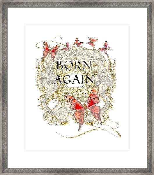 Butterfly Butterflies Swirling Born Again Christian Symbol Framed Print
