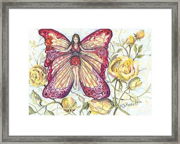 Butterfly Grace Fairy Framed Print