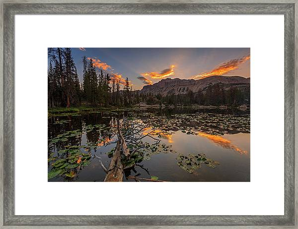 Butterfly Lake Sunrise. Framed Print