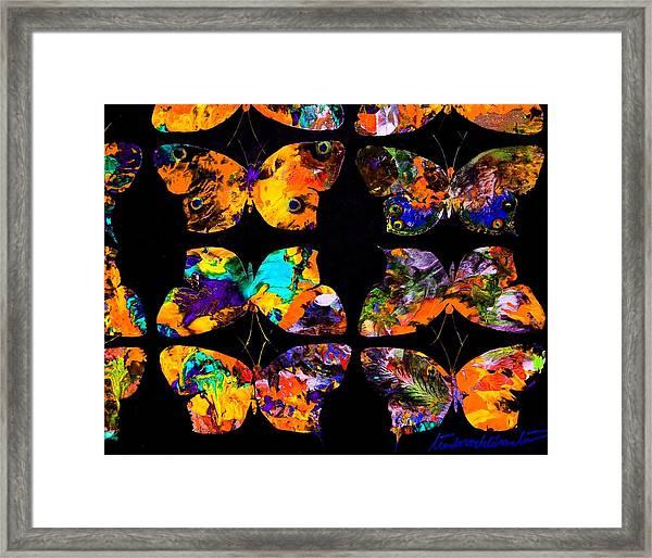 Butterfly Rows  Series 2 Framed Print by Teodoro De La Santa