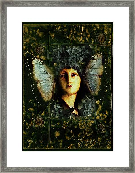 Butterfly Woman Framed Print