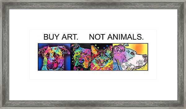 Buy Art Not Animals Framed Print