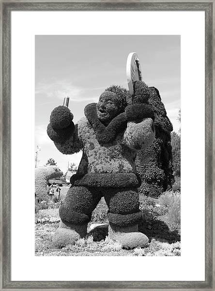 Bw  Of Nunavit's Entry The Drum Dancer Framed Print