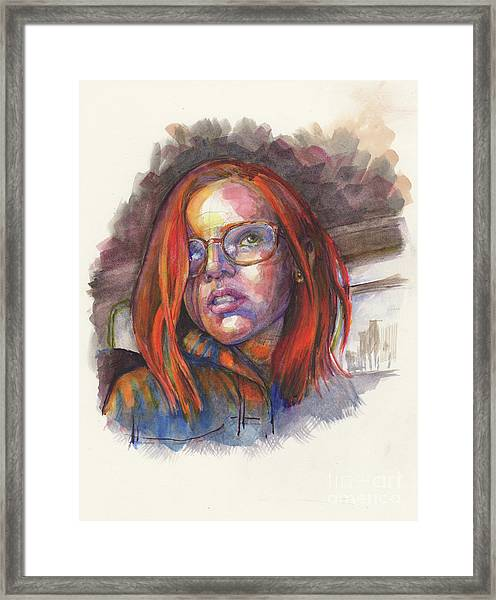 By Greyhound, At The Golden Hour Framed Print