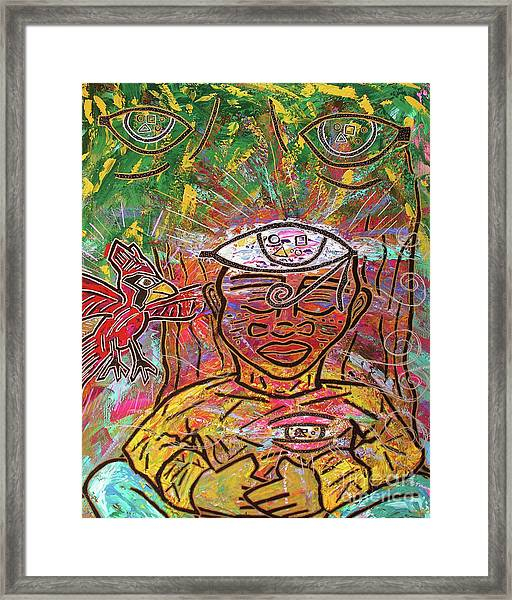 By The Bodhi Tree Framed Print
