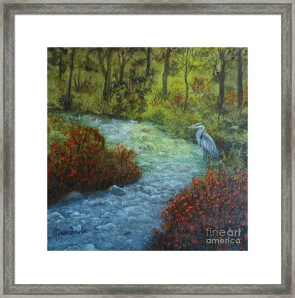 By The Brook Framed Print