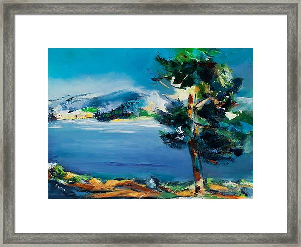 Framed Print featuring the painting By The Lake by Elise Palmigiani