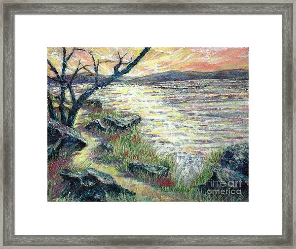 By The Sea Framed Print