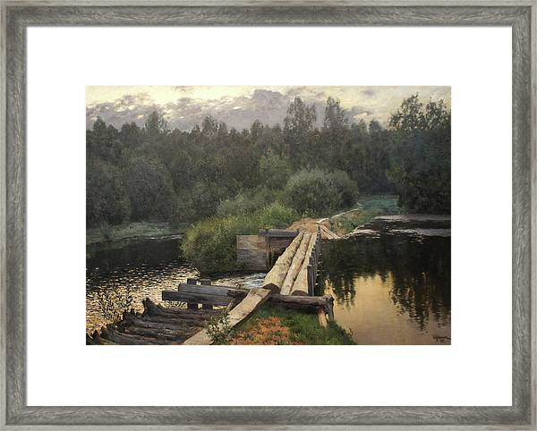 By The Whirlpool Framed Print by Isaac Levitan