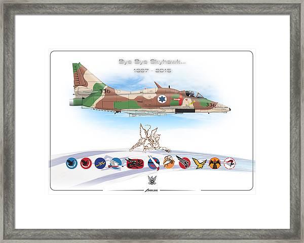 Bye Bye Skyhawk Framed Print
