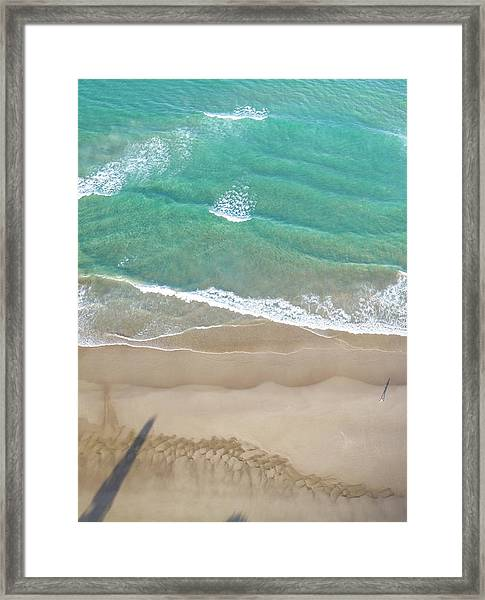 Framed Print featuring the photograph Byron Beach Life by Chris Cousins