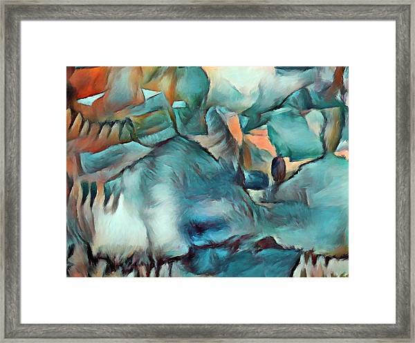 Byzantine Abstraction Framed Print