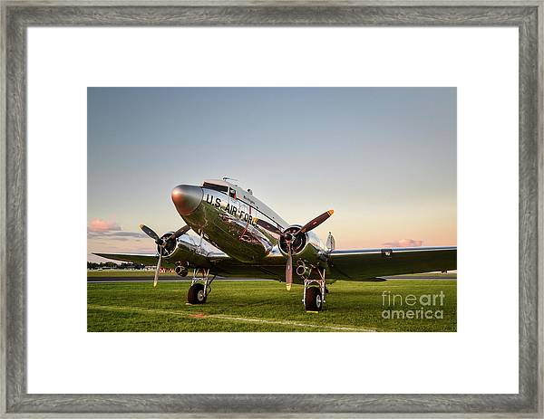 C-47 At Dusk Framed Print