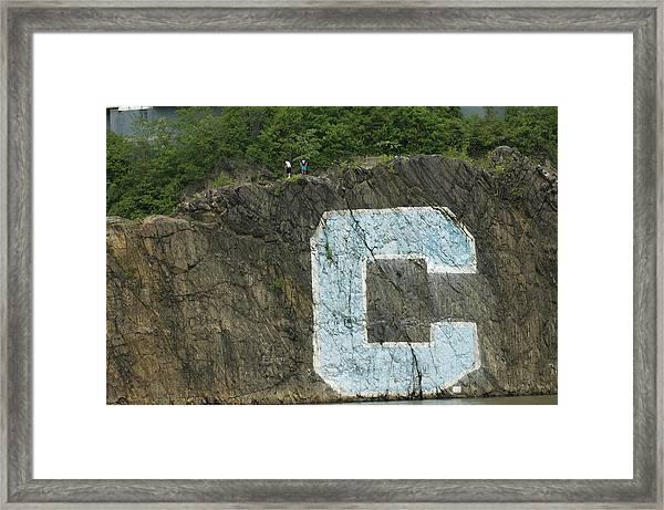 C Rock Of Columbia University Framed Print