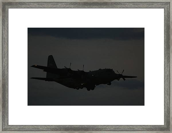 C130 Hercules Night Flight Framed Print