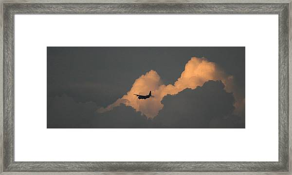 C130 Hercules Sunset 2 Framed Print