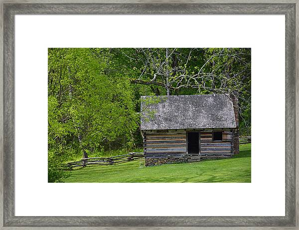 Cabin At Zebulon Vance Birthplace Framed Print