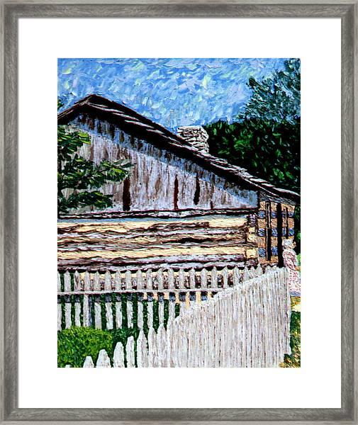 Cabin In Knife Framed Print by Stan Hamilton