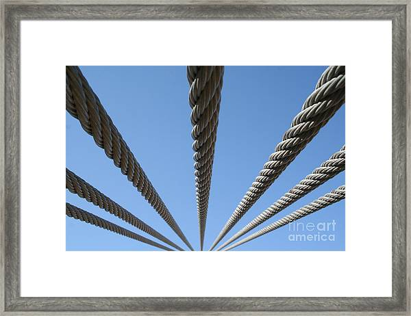 Cables To Heaven Framed Print by Andrew Serff
