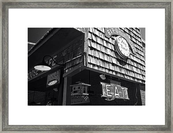 Bar B Que Caboose Cafe Framed Print