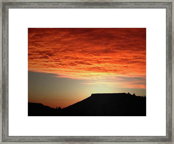 Caddis Sunset Framed Print