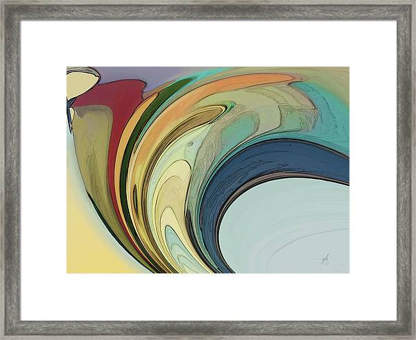 Framed Print featuring the digital art Cadenza by Gina Harrison