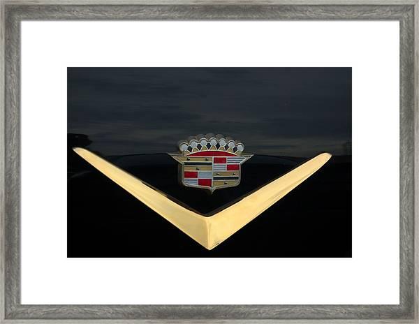 Cadillac Hood Emblem Framed Print