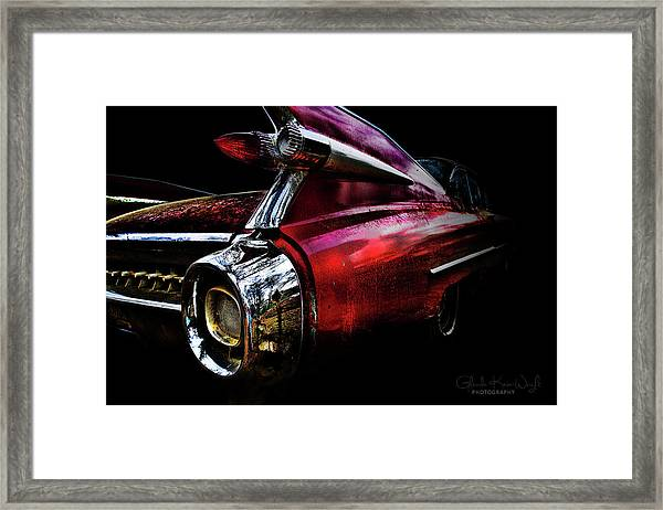 Framed Print featuring the photograph Cadillac Lines by Glenda Wright