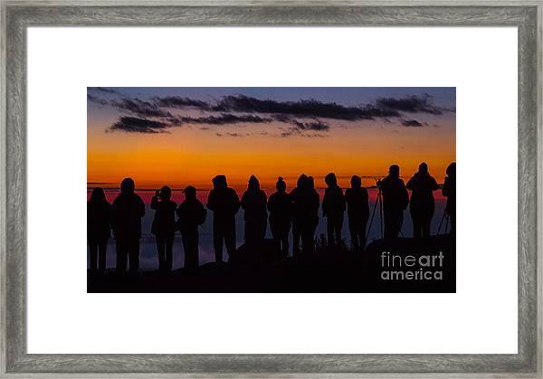 Cadillac Mountain Sunset.  Framed Print