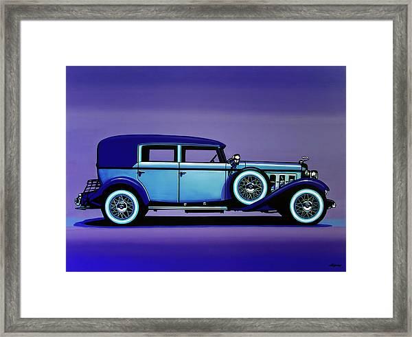 Cadillac V16 1930 Painting Framed Print