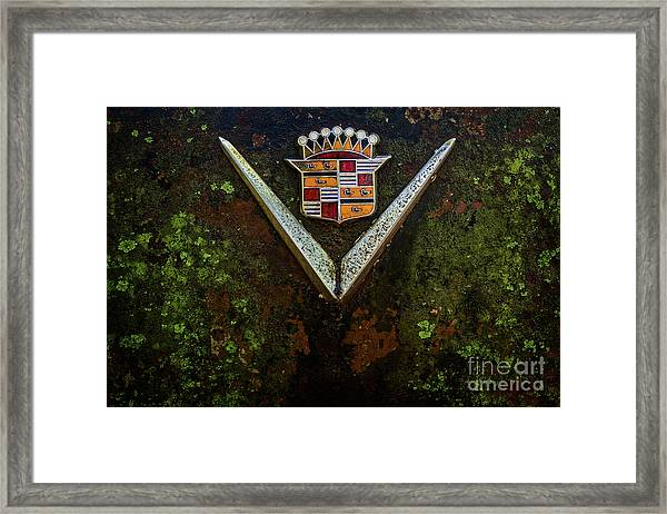 Cadillac Vee And Crest Framed Print