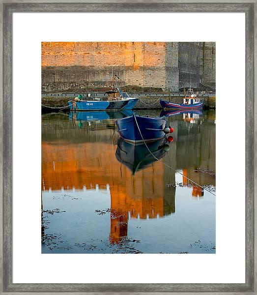 Caernarfon Reflections Framed Print