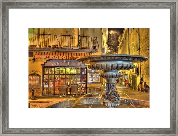 Cafe, Aix-en-provence Framed Print