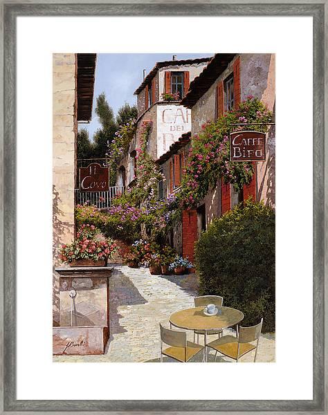 Cafe Bifo Framed Print