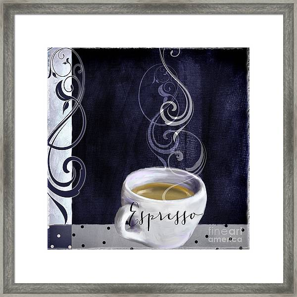 Cafe Blue Iv Framed Print
