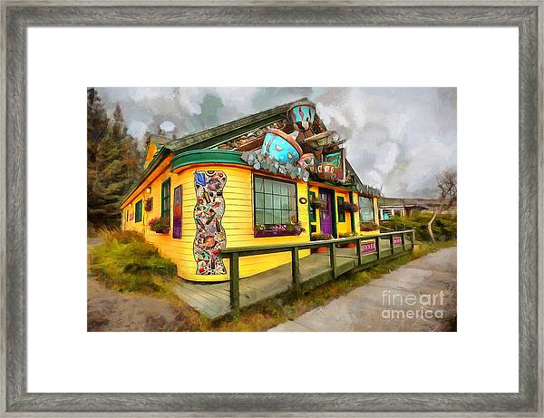 Cafe Cups Framed Print