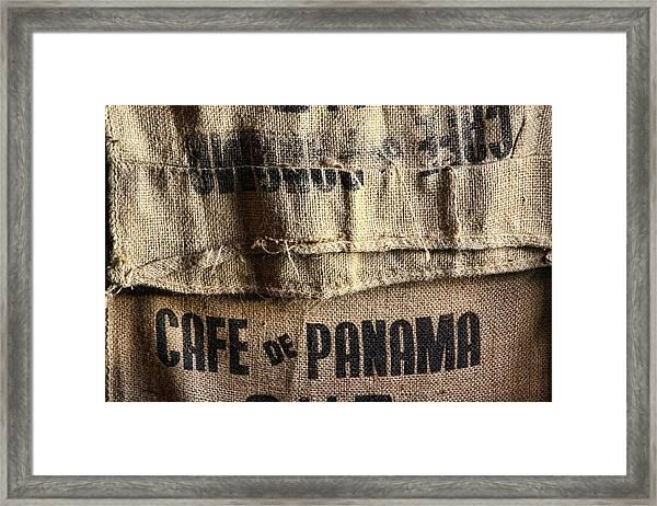 Cafe De Panama Framed Print
