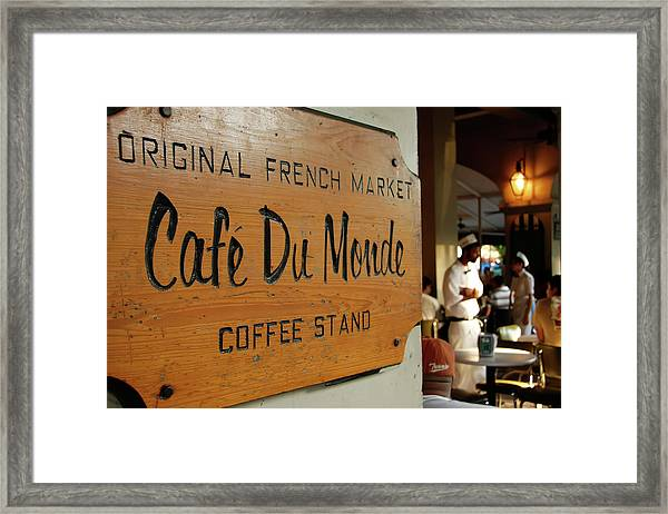 Cafe Du Monde Framed Print