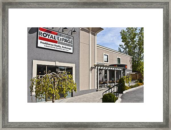 Cafe E Entrance Wide Shot Framed Print by Michael Rutland